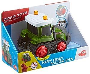Dickie Toys 203812004 Happy Fendt Rolling Eyes - Coches de Juguete para niños a Partir de 1 año, vehículos de Obras, Coches de Juguete, luz y Sonido, 2 Modelos Verde