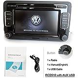 eoda OEM Volkswagen RCD510KFZ Stereo Radio 6CD USB AUX SD MP3Player iPod FM/AM für VW Golf Passat Polo GTI Caddy Sharan Scirocco CC Eos Jetta