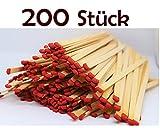 Vorteilspack - 200 Stück - 4 Packungen - Kaminhölzer Streichhölzer 20 cm lang 50 Stück (4 Packungen)