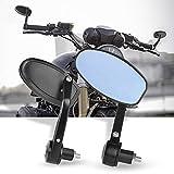 """Aolead Specchietti Moto,7/8"""" 22mm Specchietti Manubrio Moto CNC Alluminio Specchietti Moto Universale Specchietti Retrovisore per Moto Street Bike Sport Bike Scooter Cruiser-1 Paio"""