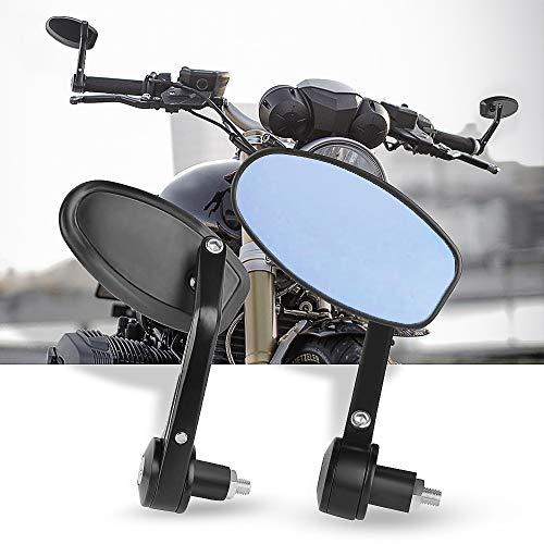 Espejos Retrovisores de Moto,7/8\'\'Retrovisores Moto Espejos Moto para Motocicleta Touring Cruiser Chopper Bicicleta