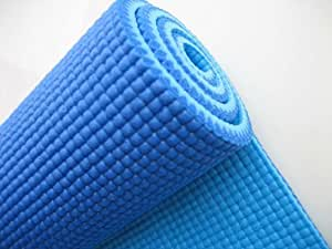 Narains Packaging 4mm Blue Yoga Mats with Bag
