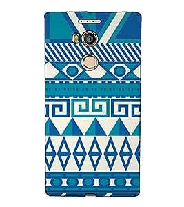 Fuson Designer Back Case Cover for Gionee Elife E8 (Blue Pattern Theme)