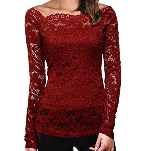 manica-lunga-maglietta-toogoormaglietta-in-lace-scollatura-a-barca-manica-lunga-in-pizzo-donna-rosso