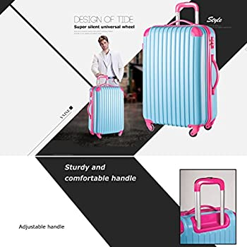 "Travelhouse Executive Business Bag Luggage Travel Flight Case Suitcase New (28"", Blue & Rose) 2"