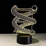 Deerbird® 3D DNA Spirale Optische Täuschung Bunte LED Berühren Schalter Schreibtisch Tisch Lampe Nacht Licht für Weihnachten Streich Geschenke Romantische Urlaub Kreatives Gadget (USB und 3 AA batteriebetriebene Modi) -
