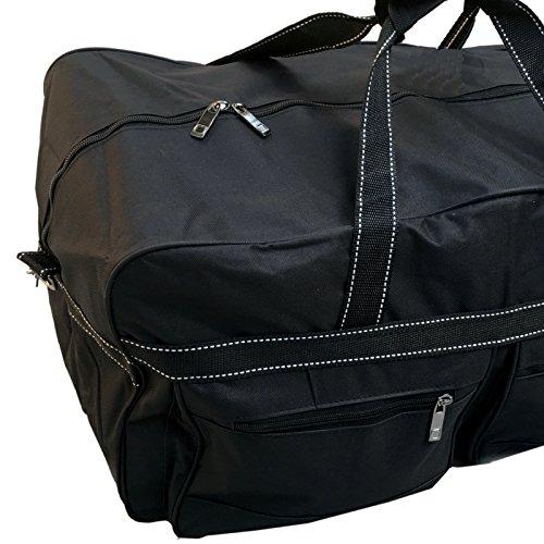"""Sporttasche - Reisetasche, 25 bis 80 Liter, schwarz / blau / rot (""""S"""" schwarz 25 Liter)"""