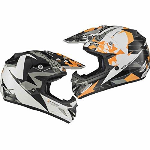Shox MX-1 Paradox Enduro Motocross Helm S Schwarz Orange