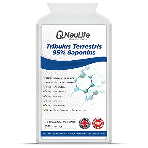 Tribulus Terrestris 95% Saponins - 240 Capsules - by Neulife Health and Fitness Test