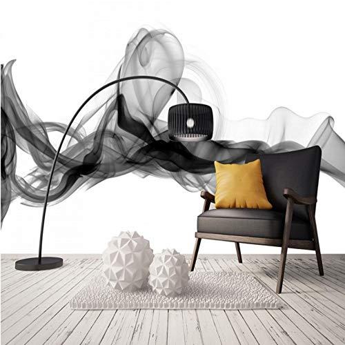 450 Schwarz Tinte (Benutzerdefinierte Tapete Moderne 3D Wandbild Schwarz Weiß Tinte malerei Wohnzimmer dekoration wandbild tapeten schlafzimmer 450x310 cm)