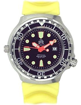 Taucher Uhr m. Automatik Werk Saphir Glas PU Band Helium Ventil T79-Y