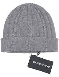 State Cashmere Wollstrickmütze aus 100% Reinem Kaschmir, aus Kabeln Gestrickt – unübertreffbar weich, warm und gemütlich