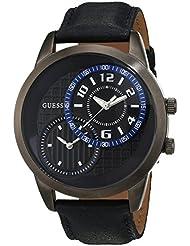 Guess Herren-Armbanduhr Analog Quarz Leder W11174G2