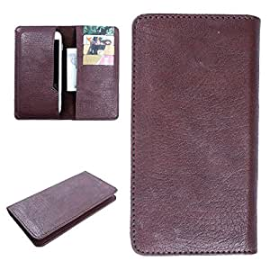 DooDa PU Leather Case Cover For iPhone 6 (Brown)