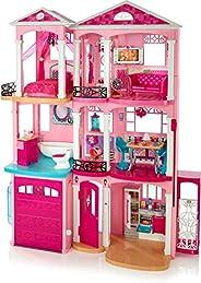 Barbie FFY84 Dockhus, Rosa