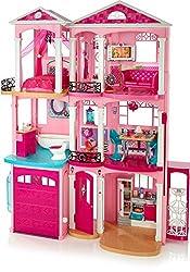 Barbie FFY84 - Traumvilla Puppenhaus mit 7 Zimmer, Garage und Zubehör, mit Lichter und Geräuschen, ca. 115 cm hoch, Mädchen Spielzeug ab 3 Jahren