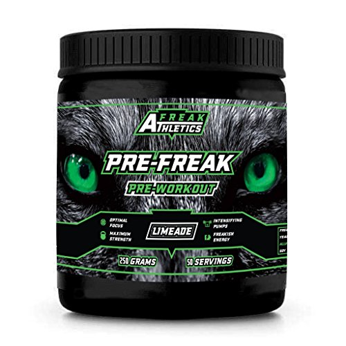 PRE-FREAK-Limeade-Flavour-Pre-Workout-250g-Optimal-Formula-Of-Beta-Alanine-Citrulline-Malate-Creatine-Caffeine-Anhydrous-Best-Tasting-Pre-Workout-On-The-Market-All-Natural-Ingredients-Flavours
