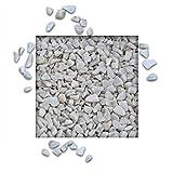 Marmorsplitt Carrara Weiss 8/12 mm (25 kg Sack)