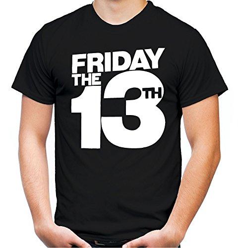 Friday 13 Männer und Herren T-Shirt | Freitag der 13 Halloween Horror Geschenk (L, Schwarz) (13 Halloween Vs Der Freitag)
