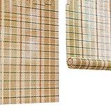 Bambusrollo Bambusrollos Mit Seitenzug Für Fenster Und Türen, Natürliche Bambusrollos Mit Volant, 70% Lichtfilterung (größe : 45×160cm)