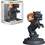 Funko- Pop Vinyl: Movie Moments: Harry Potter S5: Ron Riding Chess Piece Figura Coleccionable, Multicolor, única (35518)