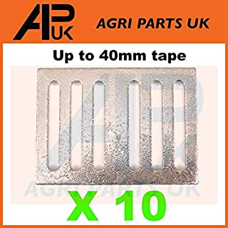 APUK 10 Electric fence fencing tape connector Plates Joiners Metal 20/40mm connection