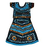 Pikaboo Blue & Black Girls Chaniya Choli Dress (10-12 Years)