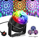 Disco Ball Light SOLMORE Disco Lights RGB 5W Party Lights Color Changing Sound Activated Effect Crystal Magic Rotating Ball Lights for Children Home Birthday Party Karaoke Club Christmas Festival