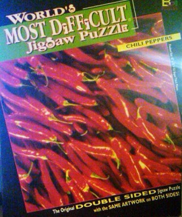 World's Most Difficult Jigsaw Puzzle Chili Peppers by Buffalo Games