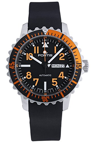 fortis-b-42-marinemaster-day-date-gmt-automatic-steel-orange-mens-strap-watch-6701949-k