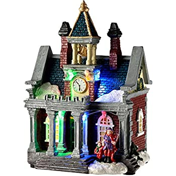 werchristmas victorian house christmas decoration with colourful led lights 20 cm multi colour