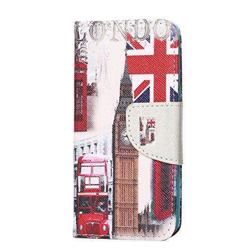 Housse iPhone 5S , Coque iPhone SE , Caselover Motif Mode Winnie L'ourson Etui en PU Cuir Portefeuille pour Apple iPhone 5 / 5S / SE Anti Choc Superbe Portefeuille Folio Flip à Rabat Cover Couverture  United Kindom