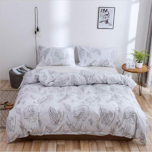 SHJIA Queen-Size-Bettwäscheset Twin Full King-Size-Bettwäscheset Home Bedding Kit Weicher Flanell Bettbezug Kissenbezug E 240x220cm (Bettwäsche Flanell High Monster)