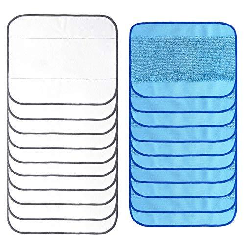 LiTAI 20-Pack Waschbar Nass und Trocken Wischpads for iRobot Braava 380 380t 320 Mint 4200 4205 5200 5200C Vacuum Cleaner Mixed Microfiber Mopping Cloths - Mint Cleaner