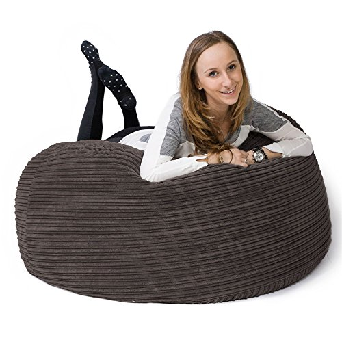 LOUNGE PUG® - CORD - Large Bean Bag For Adults - MAMMOTH - GIANT Beanbag UK  - GRAPHITE GREY From Lounge Pug 77f601a266218