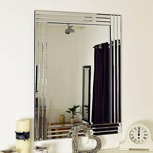 MirrorOutlet Espejo de Pared Grande Veneciano Biselado de 100 cm x 70...