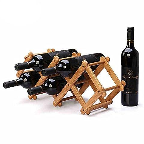Bouteilles de vin, Indeer Bambou pliable de vin (peut contenir 5Bottoles)
