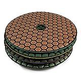 Original Diamant Schleif Pad Set trocken (9 teilig), 125 mm, Diamant Scheiben + Aufnahmeteller, Schleifscheibe zum schleifen und polieren von Naturstein, Granit, Marmor, Glas,
