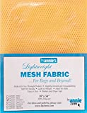 byannie sup209de dandel Lightweight Mesh Fabric, 18x 54Pulgadas Aprox. 45,7x 137cm Red plástico, 100Percent poliéster, Amarillo, 28x 20x 1cm