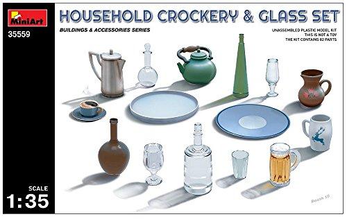 Unbekannt Mini Tipo 35559-Accesorios de construcción Household Crockery y Glass Set
