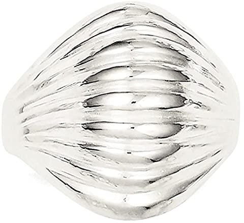 IceCarats 925 Sterling Silver Solid Domed