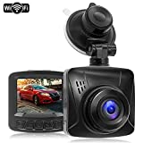 Dash Cam 1080P FHD WiFi Car Dash Camera Dashcams for Cars,170° Wide Angle,2.0""