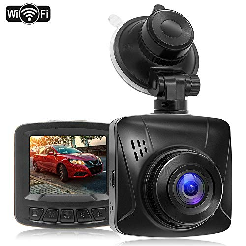 "Dash Cam 1080P FHD WiFi Car Dash Camera Dashcams for Cars,170° Wide Angle,2.0"" LCD,WDR,Dedicated App,Super Night Vision,Emergency Lock,Loop Recording,Parking Mode"