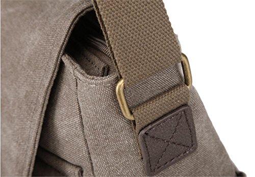 Xiuxiandianju Borse diagonale di svago coreano borse tela borse degli studenti di borse moda , khaki coffee color
