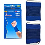 Diswa Elastic Wrist Glove Hand Grip Support Protector Brace Sleeve Support (Free Size, Blue) 2 Pic Set