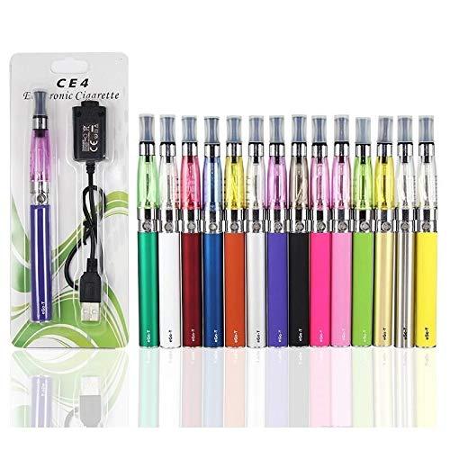 Ego-T CE4 E-Zigarette Elektronische Shishas Aufladbare Elektronische Zigaretten Stift Starter Kit mit 1,6ml Fassungsvermögen und mit USB Ladekabel Ohne Tabak, mit 1100mAh