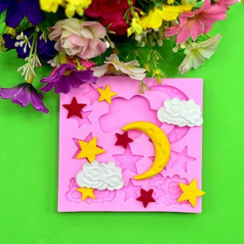 TianranRT★ Silikon Backform,Moon Stars Silikonform Fondant Kuchen Dekoration Werkzeug Schokoladenform,Rose - Dunkle Kirsche-tv