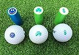LL-Golf ® Timbre por Pelota de Golf/Marcador para Bolas/Golfball Stamp/Marker a Diferente diseños (Dollar)