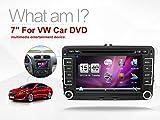 New 17,8cm 2DIN DVD de voiture GPS stéréo de voiture lecteur DVD GPS Windows CE 6.0DE Navigation pour VW Golf 4Golf 56Polo Passatcc Jetta Tiguan Touran EOS Sharan Scirocco T5Caddy HD gratuit Camera