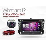 Nuevo 7pulgadas 2din DVD GPS Carro, Estéreo reproductor de DVD GPS navegación Window CE 6.0de Carro para VW GOLF 4GOLF 56POLO PASSATCC JETTA TIGUAN TOURAN EOS SHARAN SCIROCCO T5 CADDY HD Cámara Gratis